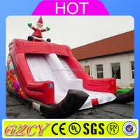 2016 New Style Christmas Inflatable Slide