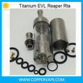 Only 60g/set Titanium rta 3.5ml Coppervape Titanium evl reaper atomizer bottom filling