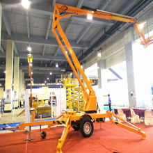 Tree trimming man lift articulating arm aerial work platform bucket vehicle truck mounted boom lift