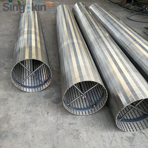5.8 Meter wedge wire pipe well screen Johnson type filtering mesh