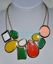 palestine colorful bead chunky necklace china wholesale