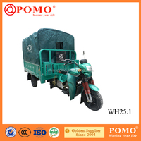 China Made Motorized Water-Proof Gasoline Cargo 250CC Motor Tricycle With Canvas