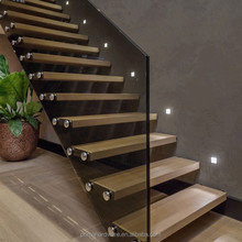 beautiful floating staircase with smart glass balustrade panel design dea