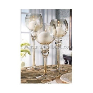 crystal votive glass hurricane candle holder with stem