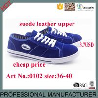 Suede Leather Upper Shoes Rubber Stock