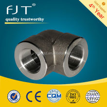 forged steel pipe fittings high pressure stainless steel 90 elbow