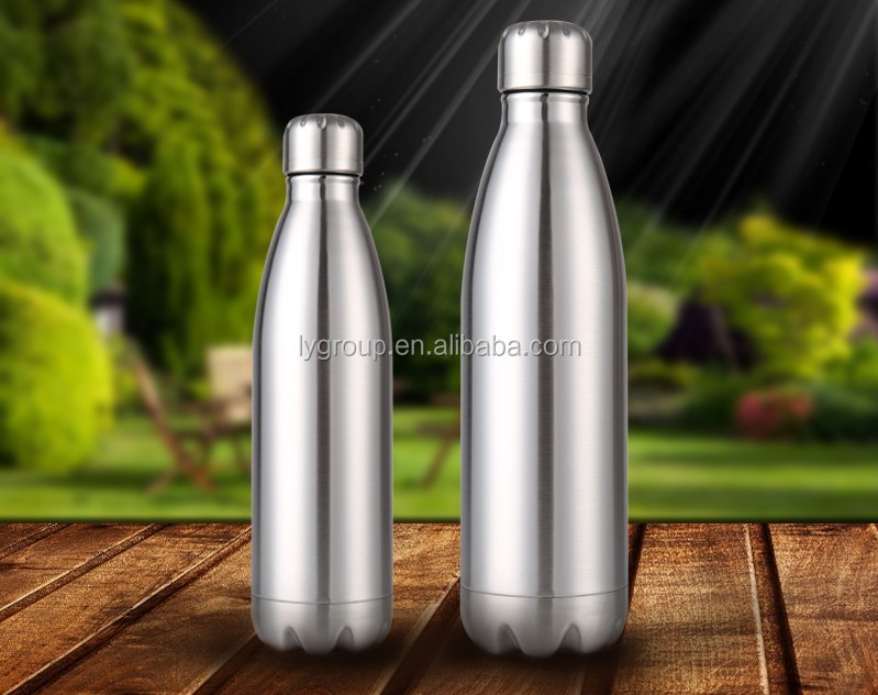 High quality coal shape stainless steel 304 food grade thermos vaccum water bottle
