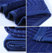 dark blue recycled denim waterproof furniture moving blankets