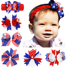 Sun Flower Crystal-liked Hairband for 0-3 Years Age Girls American Independence Day Infant Baby Girls Headband
