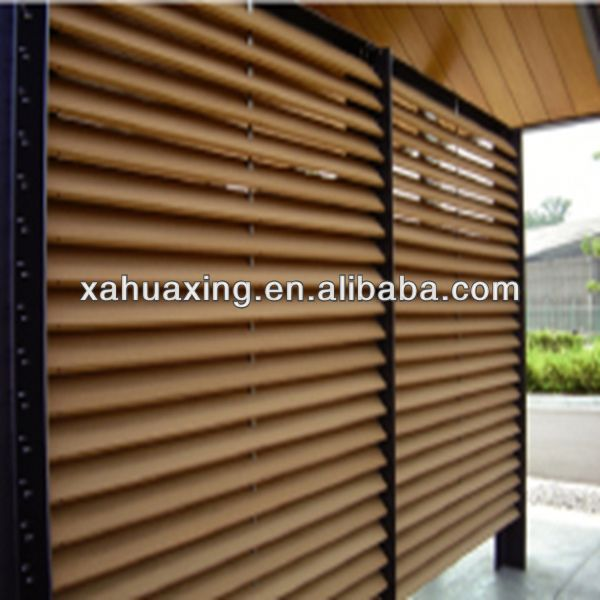 weatherproof louver fence plate