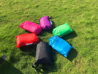 Customized nylon inflatable chair lazy sofa camping hangout sleeping bags