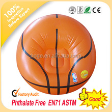 Cheap PVC inflatable sofa chair,inflatable basketball sofa, inflatable football sofa
