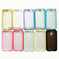10 Colors TPU+Clear Matte PC Cover for Samsung i9500 Galaxy S4 Cover