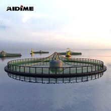 High quality HDPE deep sea copper alloy nylon net floating fish farming cage system