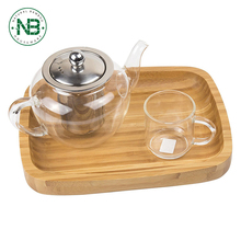 Simple design square bamboo wooden serving tray tea tray