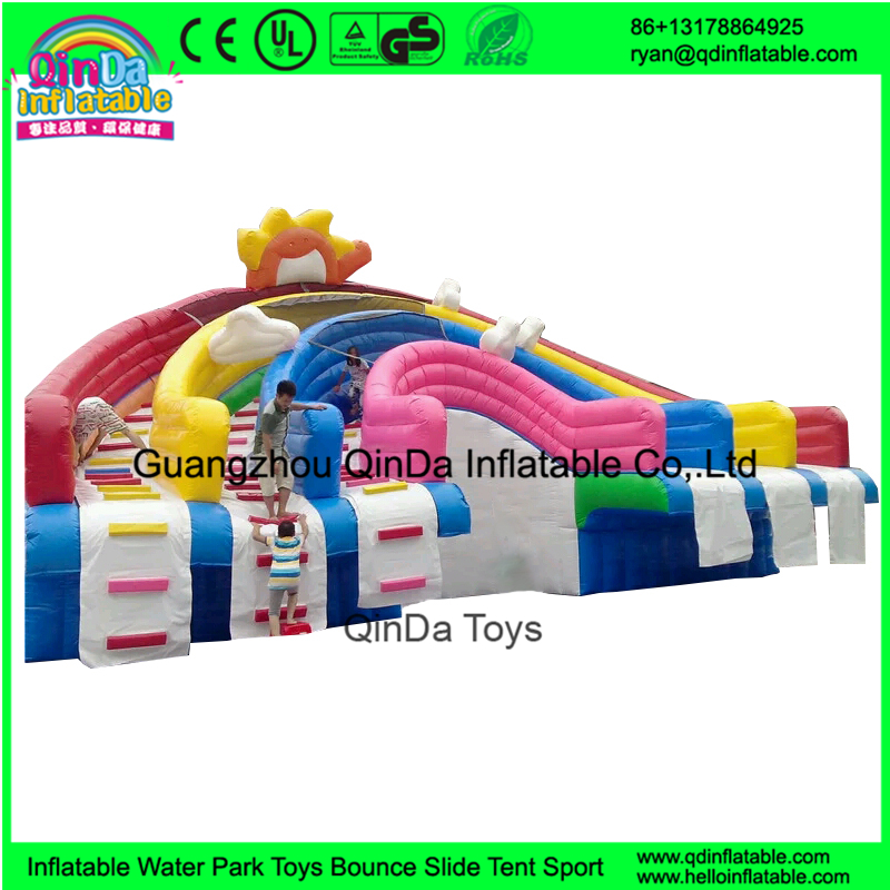 New Commercial Giant Inflatable Rainbow <strong>Slide</strong> For Pool Cheap Inflatable Water <strong>Slides</strong> For Sale
