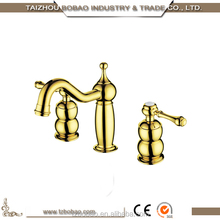 Grace Model High-end Antique Brass Gold Finish 3 Way Vintage Basin Faucet