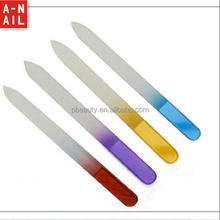 personalized wholesale 2 sides glass nail file 140*12*3 mm best nail files with pvc bag