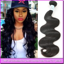 Grade weave 5a 100% virgin brazilian hair,natural color body wave human hair extensions natural hair extensions