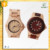 JUSNEY 2017 classic 100%Natural wood and Fashion charming withJapan Movt 2035 wood watch/bamboo men watch