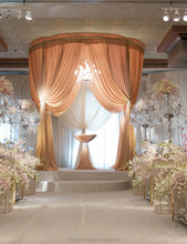 Pipe and drape glitter backdrop wedding drapery