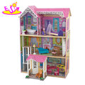 2018 New hottest large size wooden pretend play doll house for girls W06A263