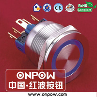 ONPOW 22mm anti-vandal momentary push button switch illuminated metal switch
