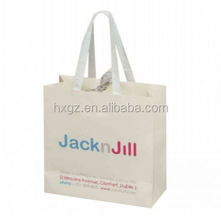 OEM /ODM printed flat handle paper grocery bags