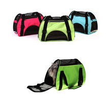 Breathable Mesh Fabric Pet Carrier Backpack Dog Cat Carrier Bag