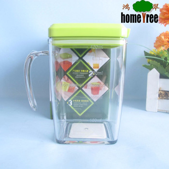 400ml crystal square clear plastic measuring oil control vinegar pitcher
