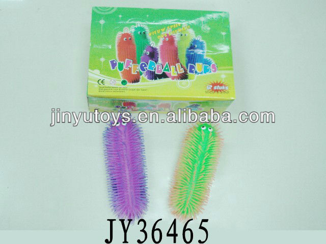 26cm flashing kids fluffy caterpillar puffer ball toys