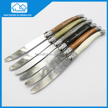 6PCs laguiole cheese tool stainless steel plastic handle butter knife