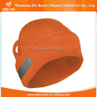 Wholesale manufacture safety protection reflective knit hat