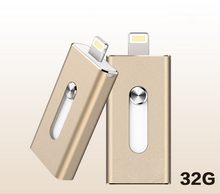2017 manufacture Metal 3 in 1 otg usb 2.0 16gb flash drive