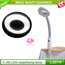 Tweezer magnifier with led light