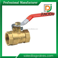 Lead free 4 3 1 inch npt threaded stainles handle easy installation dn15 dn20 brass ball valve with lock for water meter
