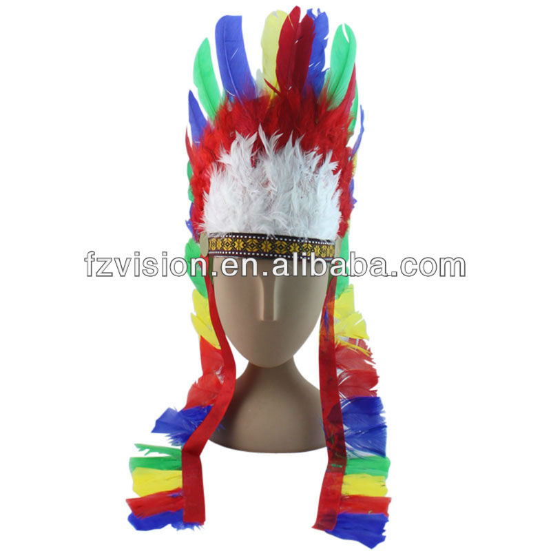 Fashion Indian Feather Christmas Party Headdress