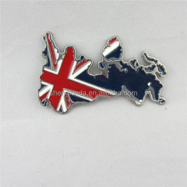 Metal Car Emblem Country Map Car Sticker England Map Emblem