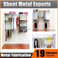 wall mount closet system Hardware Metal Wardrobe Walk in Closet clothes storage unit