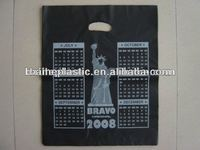 custom recyclable PE die cut plastic bags for shopping