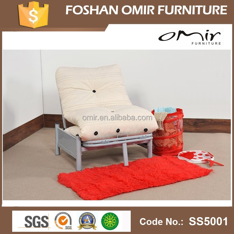 hot sale single futon metal sofa