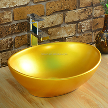 China cheap vintage stylie oval porcelain table top basin bathroom sink