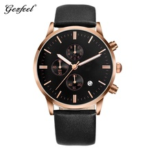 Brand 3 Hands mechanical Wristwatch Time Date Display Round Dial 3ATM Stainless Steel Back Water Resistant Watch