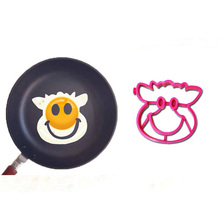 Eco-friendly custom cow shape silicone egg ring