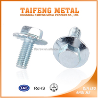 machine thread China galvanized steel flange screw
