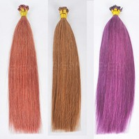 5A grade Qingdao Manufacture prebonded hair Virgin Remy Human Hair Keratin Hair Extension,1g/s 100g/pack Color I Tip Hair