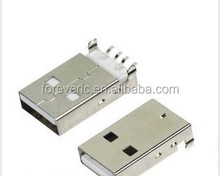 USB 2.0 Male A Type USB PCB Connector Plug 180 degree SMT SMD Male USB Connectors
