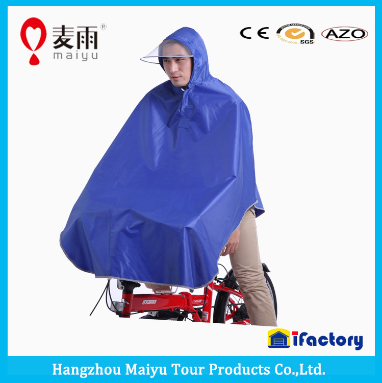 Maiyu high quality waterproof eco-friendly bicycle rain poncho
