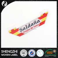 Colorful garment woven label miterfolded design clothes label
