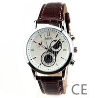 Free Shipping China Man Big Strap Leather Water Resistant Wristwatch Women wh10272